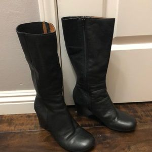 Butter soft black leather boots